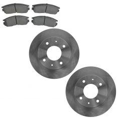 92-96 Summit;  90-98 Galant 92-95 Expo 92-94 CltVsta Front Brake Rotor & Semi Metallic Brake Pad Kit