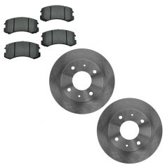 Mistubishi Lancer Front Brake Rotor & Semi Metallic Pad Kit