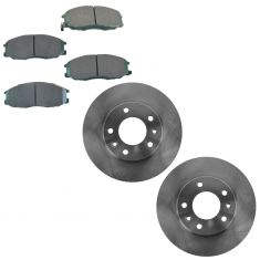02-04 to 12-01-03 Kia Sedona Front Brake Rotor & Posi Ceramic Brake Pad Kit