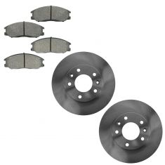 04-05 from 12-01-13 Kia Sedona Front Brake Rotor & Semi Metallic Brake Pad Kit