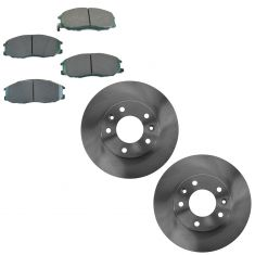 04-05 from 12-01-13 Kia Sedona Front Brake Rotor & Premium Posi Ceramic Brake Pad Kit