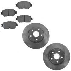 06 GS300; 09-15 IS250 Front Brake Rotor & Posi Semi Mettallic Brake Pad Kit