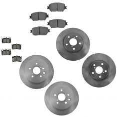 06 GS300; 09-13 IS250 Front & Brake Rotor & Posi Semi Mettalic Pad Kit