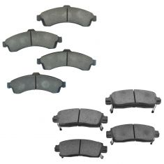 02-05 Buick Chevy GMC Mid Size SUV Front & Rear Ceramic Disc Brake Pads