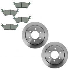 12-15 Ford F150 Rear Disc Brake Rotor & Premium Posi Ceramic Pad Set