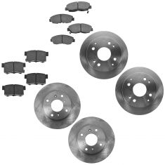 98-02 Honda Accord; 98-99 Acura CL 2.3L Front & Rear Ceramic Brake Pad & Rotor Kit