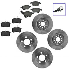 00-06 TT; 00-03 Golf; 04-05 Jetta Front & Rear Semi Metallic Pad & Rotor Kit
