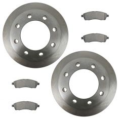 00-05 Excursion; 99-04 F250SD, F350SD Rear Ceramic Brake Pad & Rotor Set