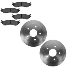 00-01 Dodge Ram 1500 Front Ceramic Brake Pad & Rotor Kit