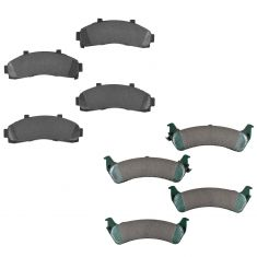 02-98 Ranger; 95-02 Explorer; 97-01 Mountaineer Front & Rear Ceramic Brake Pad Set