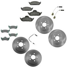 98-03 ML320; 03-05 ML350; Front & Rear Ceramic Pad Rotor & Sensor Kit