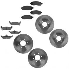 04-08 Ford F150; 06-08 Lincoln Mark LT Front & Rear Disc Brake Rotor w/ Posi Ceramic Brake Pads