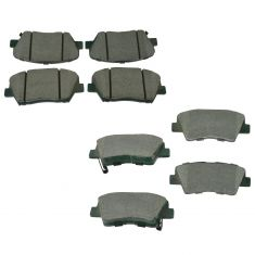 09-12 Elantra; 10-13 Forte Front & Rear Posi Ceramic Brake Pad Set