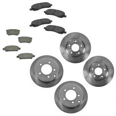 11-14 200; 07-10 Sebring; 07-14 Compass Front & Rear Ceramic Pad & Rotor Kit