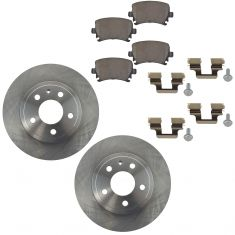 06-09 A4, A4 Quattro Rear Brake Rotor 288MM & Ceramic Pad Kit