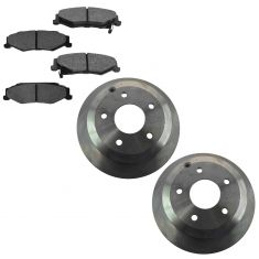 05-06 Pontiac GTO Rear Premium Posi Semi Metallic Brake Pad & Rotor Kit
