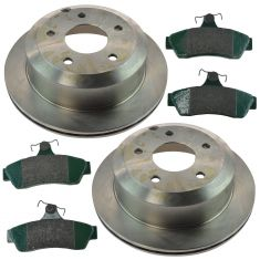 05-06 Pontiac GTO Rear Premium Posi Ceramic Brake Pad & Rotor Kit