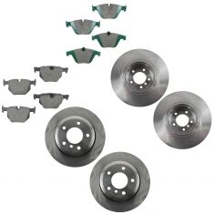 06-07 525XI; 08-10 528XI; 06-07 530XI; 08-10 535XI Front & Rear Ceramic Pad & Rotor Kit