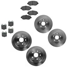 98-05 GS300; 98-00 GS400; 01-05 GS430 Front & Rear Ceramic Brake Pad & Rotor Kit