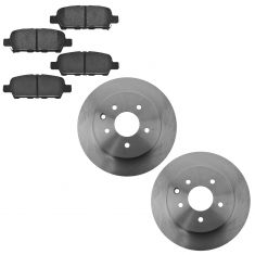 09-14 Nissan Maxima Rear Ceramic Brake Pad & Rotor Kit