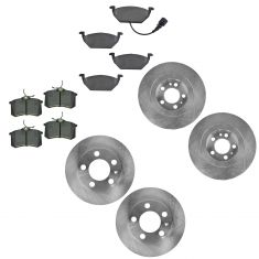 99-11 Beetle; 99-06 Golf; 99-05 Jetta Front & Rear Metallic Brake Pad & Rotor Kit