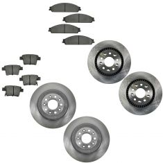05-09 Ford Mercury Front & Rear Brake Rotor & Semi Metallic Pad Kit