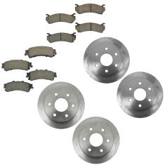 99-05 Cadillac, Chevy, GMC Pickup SUV Van Front & Rear Ceramic Brake Pad & Rotor Kit