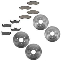 04-05 QX56, Armada, Titan Front & Rear Ceramic Brake Pad & Rotor Kit