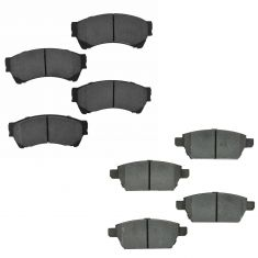 06-12 Fusion, MKZ; 06-13 Mazda 6 Front & Rear Ceramic Brake Pad Kit