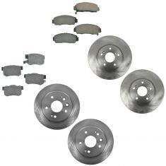 99-03 Acura TL Front & Rear Brake Rotor & Ceramic Pad Kit