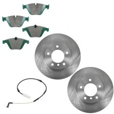 09-10 328I XDrive Front Ceramic BRake Pad & Rotor Kit w/Sensor