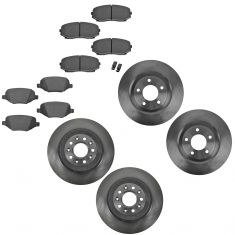 11-14 Ford Edge Front & Rear Ceramic Brake Pad & Rotor Kit