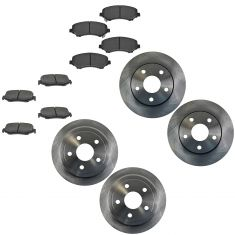 07-14 Wrangler Front & Rear Ceramic Brake Pad & Rotor Kit
