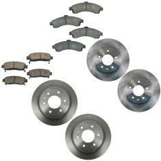 02-05 Envoy, Trailblazer, Rainier Front & Rear Ceramic Brake Pad & Rotor Kit