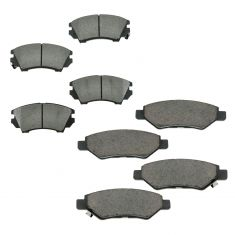 10-11 Camaro LS LT V6 Front & Rear Ceramic Brake Pad Kit