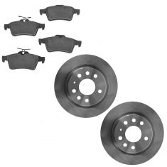 03-11 Saab Linear 9-3 Rear Brake Rotor & Semi Metallic Pad Kit