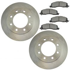 09-16 Ram 2500, 3500; 12 1500 Front Brake Rotor & Semi Metallic Pad Kit