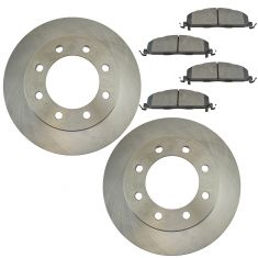 09-16 Ram 2500, 3500; 12 1500 Rear Brake Rotor & Semi Metallic Pad Kit