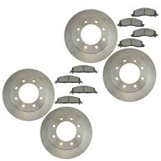 09-16 Ram 2500, 3500; 12 1500 Front & Rear Brake Rotor & Semi Metallic Pad Kit