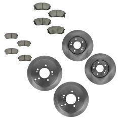 10-13 Tucson; 11-13 Sportage Front & Rear Ceramic Brake Pad & Rotor Set