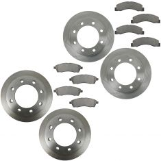 00-05 Excursion:99-04 F250 F350 Front & Rear Ceramic Brake Pad & Rotor Kit