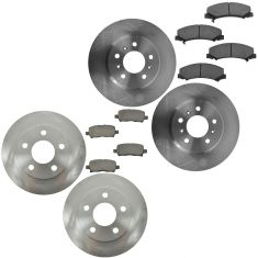 11-13 Impala Front & Rear Ceramic Brake Pad & Rotor Kit