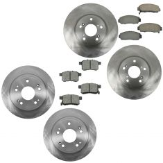09-10 TSX; 08-11 Accord Front & Rear Ceramic Brake Pad & Rotor Kit