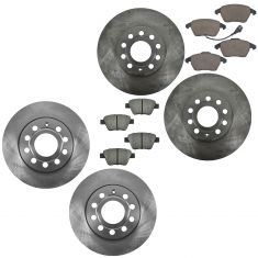 10-12 VW Golf Jetta Front Ceramic Brake Pad & Rotor Kit