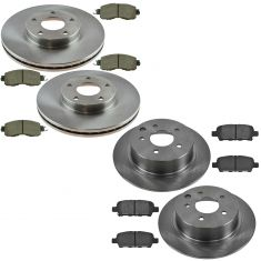 13-15 Nissan Altima Front & Rear Ceramic Brake Pad & Rotor Kit