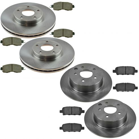 13 15 Nissan Altima Front U0026 Rear Ceramic Brake Pad U0026 Rotor Kit