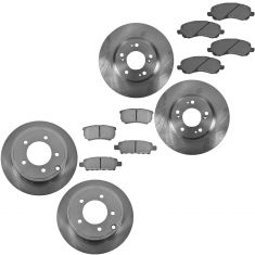 07-11 Chrysler, Jeep, Dogde Front & Rear Pois Metallic Brake Pad & Rotor Kit