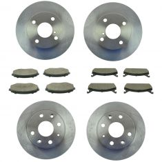 90-93 Miata Front & Rear Brake Rotor & Posi Ceramic Pad Kit