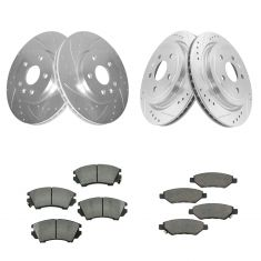 10-15 Chevy Camaro Front & Rear Ceramic Brake Pad & Rotor Kit