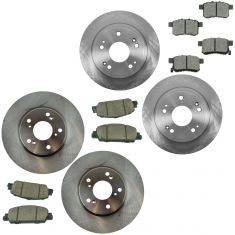 15 Civic; 13-16 Accord EXL L4 Front & Rear Brake Rotor & Ceramic Pad Kit
